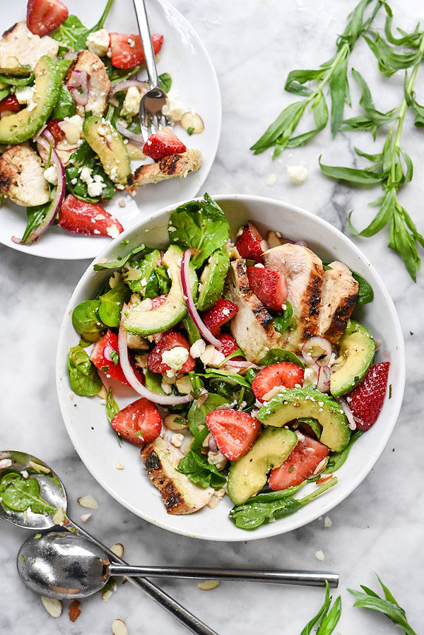 strawberry-and-avocado-spinach-salad-with-chicken-foodiecrush_com-020